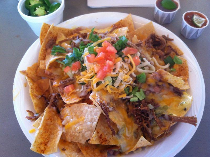 nacho mama platter with brisket