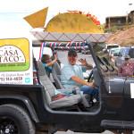 Jared & his Jeep, Casa Taco Fiesta Parade Float