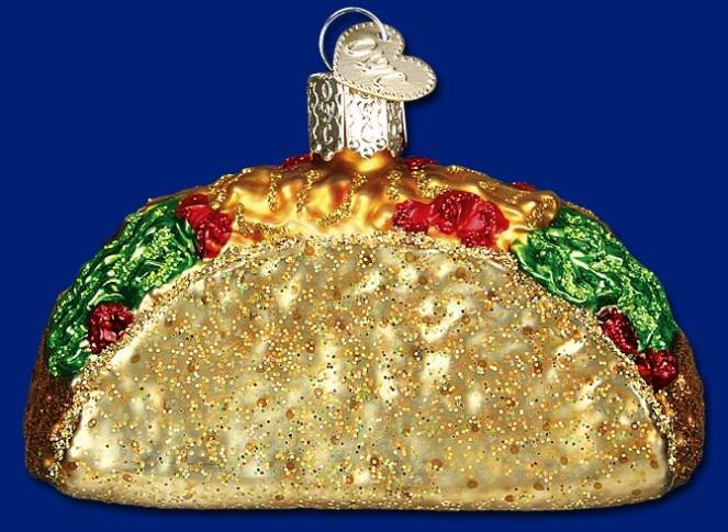 Christmas Taco Ornament