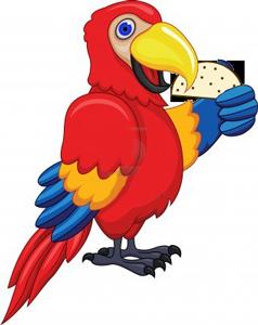 Casa Taco Mascot parrot