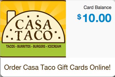 Casa Taco gift card